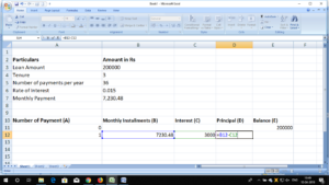 emi calculation excel